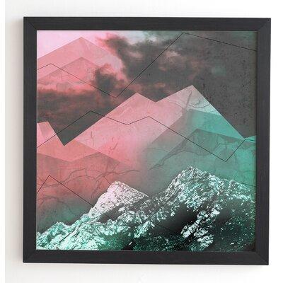 Escaping In Wonderland Wood Framed Graphic Art Frame Color: Black, Size: 20