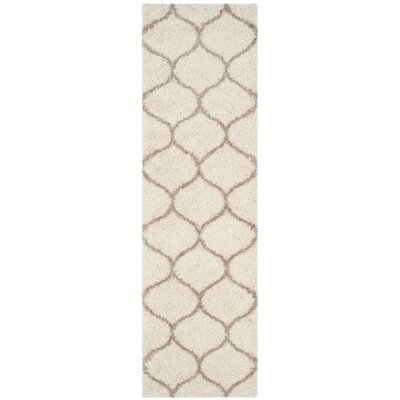 Tate Ivory/Beige Area Rug Rug Size: Runner 23 x 8