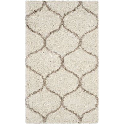 Tate Ivory/Beige Area Rug Rug Size: Rectangle 51 x 76