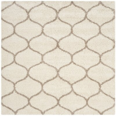 Tate Ivory/Beige Area Rug Rug Size: Square 7