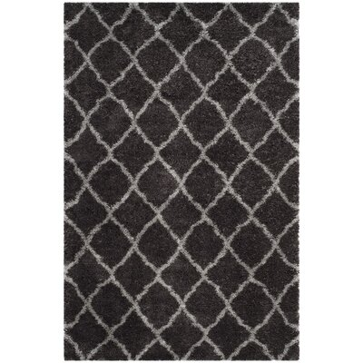 Biron Brown Area Rug Rug Size: 4 x 6