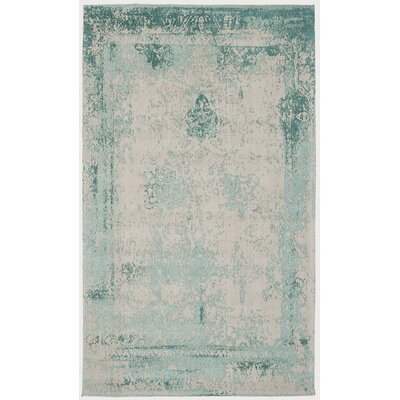 Caruso Classic Vintage Turquoise Area Rug Rug Size: 5 x 8