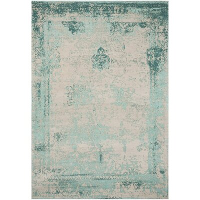 Caruso Classic Vintage Turquoise Area Rug Rug Size: Rectangle 8 x 11