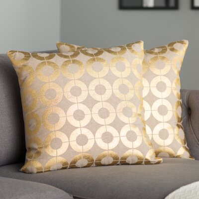 Bailey Linen Throw Pillow Size: 22
