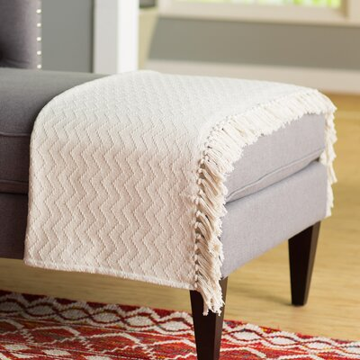 Pyxis Cotton Throw Blanket Color: Natural
