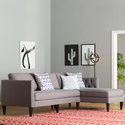Kresge Reversible Sectional Upholstery: Steeple Gray