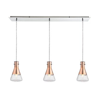 Hughey 3-Light Kitchen Island Pendant
