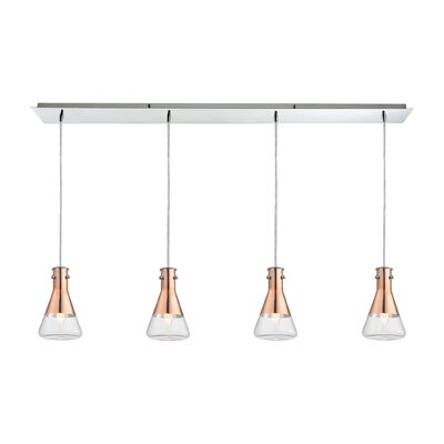 Hughey 4-Light Kitchen Island Pendant