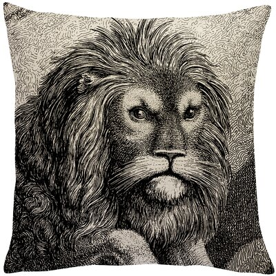 Lindy Lion Linen Throw Pillow