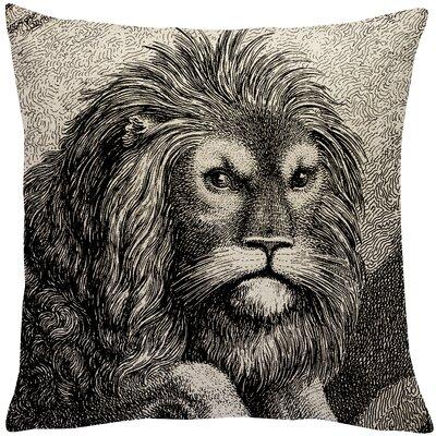 Biscoe Lion Linen Throw Pillow