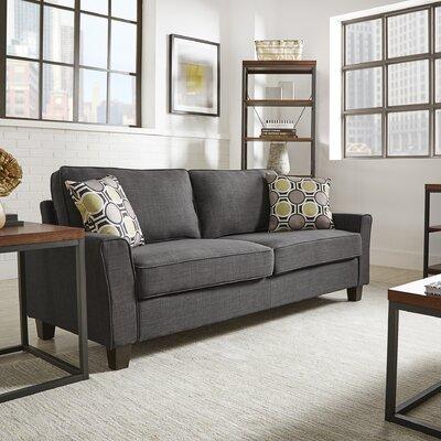 Keenan Oliver Sofa Upholstery: Dark Grey