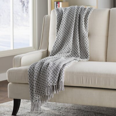 Bedoya Cotton Throw Blanket Color: Gray