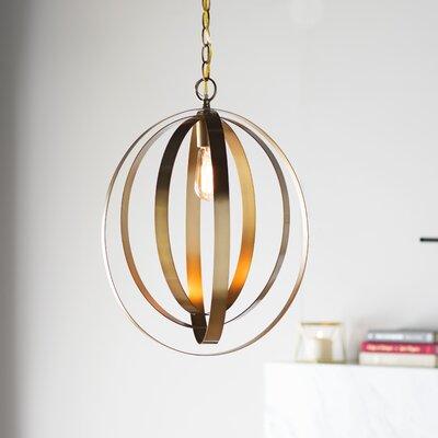 Arango 1-Light Globe Pendant Size: 17.5 H x 12 W x 12 D