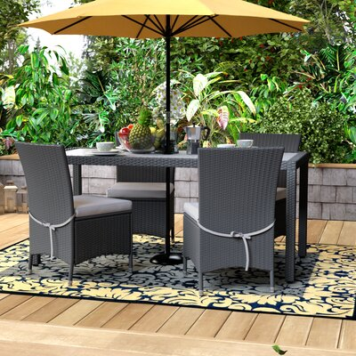 Lachesis Ross 5 Piece Dining Set Finish: Gray