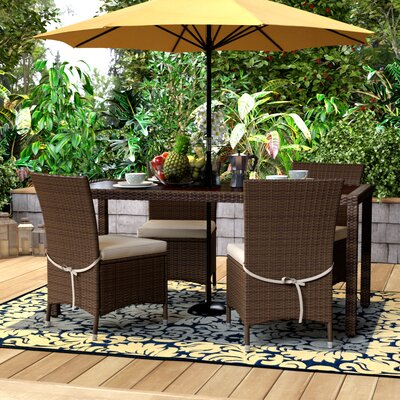 Lachesis Ross 5 Piece Dining Set Finish: Brown