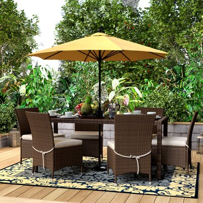 Lachesis Ross 7 Piece Dining Set Finish: Brown