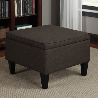 Perseus Storage Ottoman Upholstery: Chocolate Linen