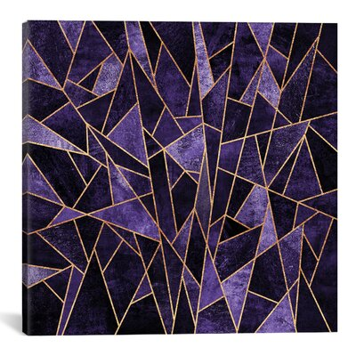 decorative accents - East Urban Home 'Shattered Amethyst' Graphic Art on Wrapped Canvas - East Urban Home Wall Art