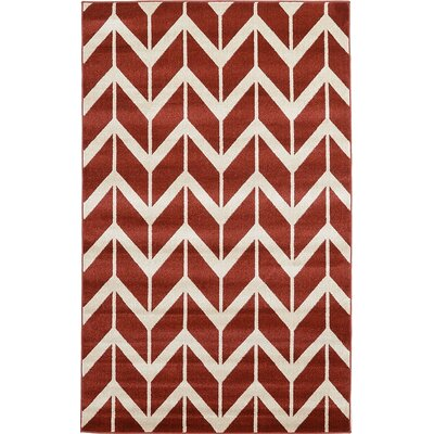 Bizzell Rust Red Area Rug Rug Size: 5 x 8
