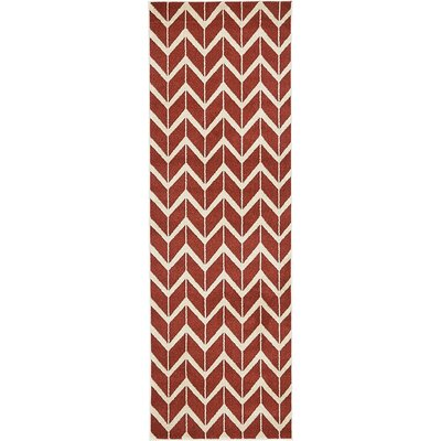 Bizzell Rust Red Area Rug Rug Size: Runner 27 x 8