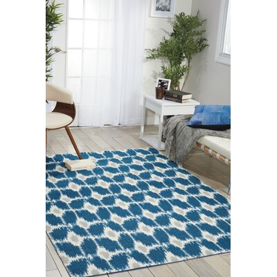 Anemone Navy Area Rug Rug Size: Rectangle 26 x 4