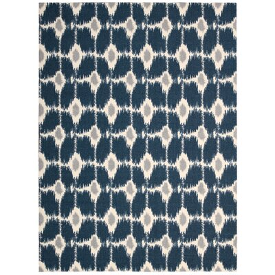 Anemone Navy Area Rug Rug Size: 8' x 10'