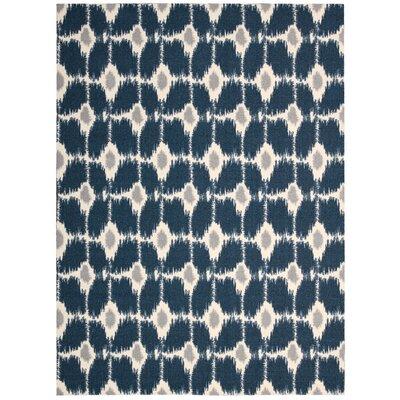 Anemone Navy Area Rug Rug Size: 26 x 4