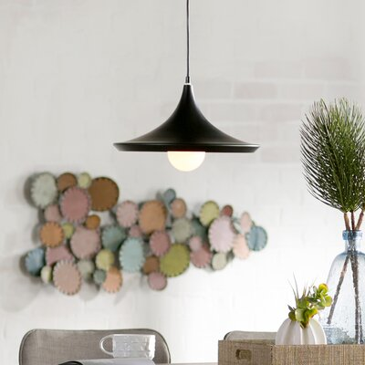 Capella 1-Light Inverted Pendant Finish: Black