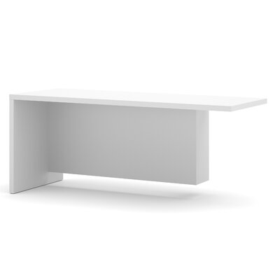 Carrozza 29.9 H x 71.1 W Left Desk Return Finish: White