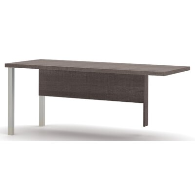 Ariana 29.9 H x 71.1 W Left Desk Return Finish: Bark Grey