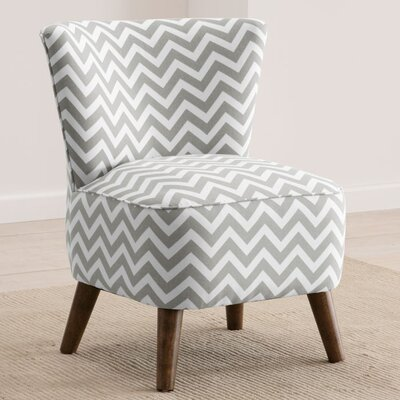 Cebes Mid Century Slipper Chair Color: Grey
