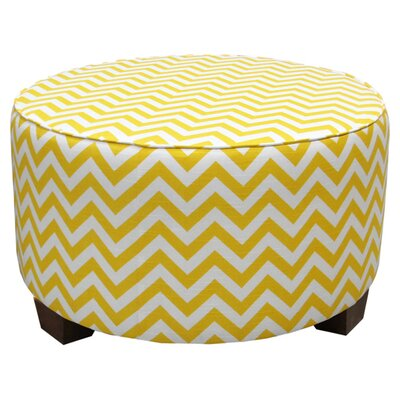 Mericle Cocktail Ottoman Upholstery: Zig Zag Yellow Slub