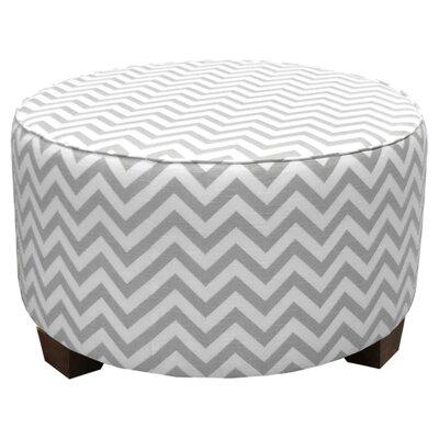 Mericle Upholstered Ottoman Upholstery: Ash / White