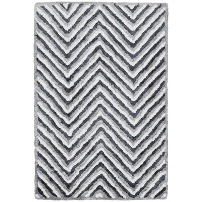 Arceo Hand-Tufted Ivory/Gray Area Rug Rug Size: Rectangle 5 x 8