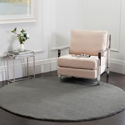 Blackstock Light Gray Area Rug Rug Size: Round 67