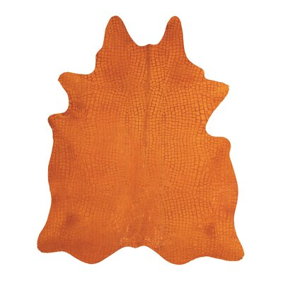 Bretta Crocodile Orange Hide Rug