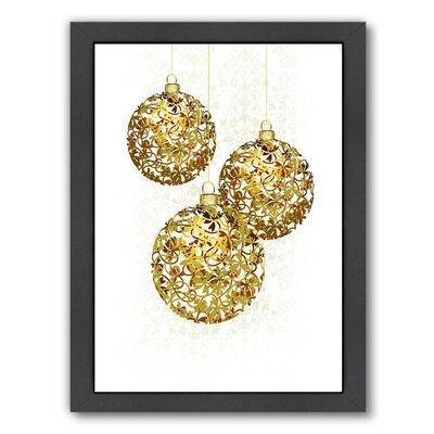 """Lace Golden Ornaments Framed Graphic Art Size: 26.5"""" H x 20.5"""" W x 1.5"""" D EABP1314 40274500"""