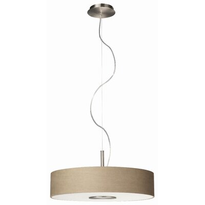 Granvill 3-Light Drum Pendant Finish: Nickel