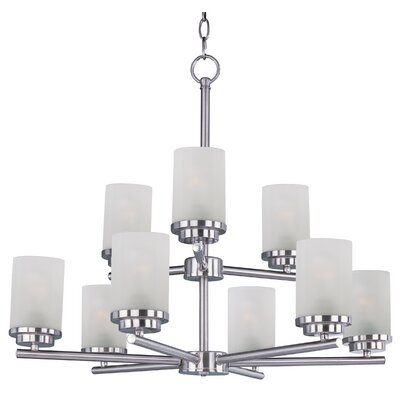 Callender 9-Light Shaded Chandelier