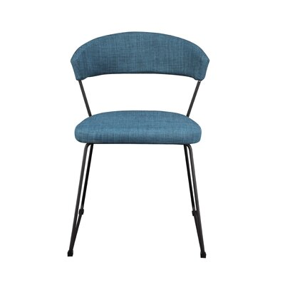 Calvin Side Chair Upholstery: Blue