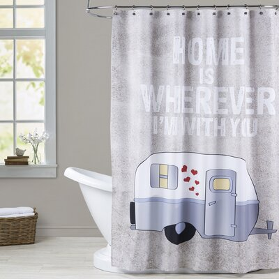 Grey Shower Curtain Design