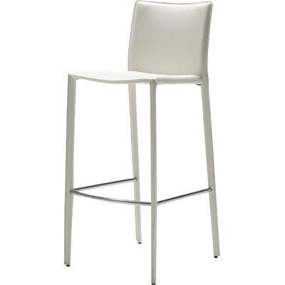 Branco 26 Bar Stool (Set of 2) Seat: White Leather