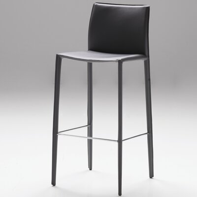 Branco 30 Bar Stool (Set of 2) Seat: Grey Leather