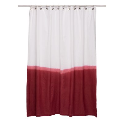 Zenobia Cotton Shower Curtain Color: Red