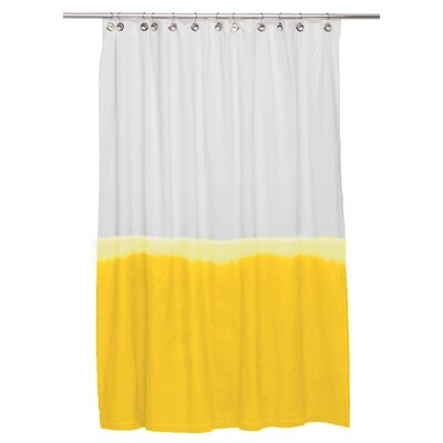 Zenobia Cotton Shower Curtain Color: Yellow