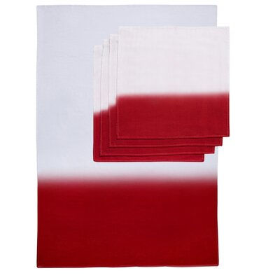 Zenobia 5 Piece Towel Set Color: Red