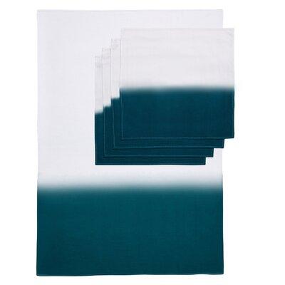 Zenobia 5 Piece Towel Set Color: Teal