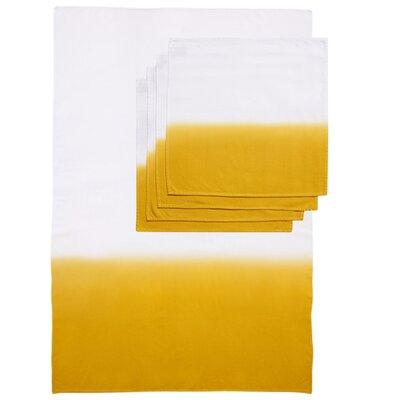 Zenobia 5 Piece Towel Set Color: Yellow