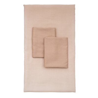 Lauralee 4 Piece 250 Thread Count 100% Viscose Rayon from Bamboo Sheet Set Size: King, Color: Latte