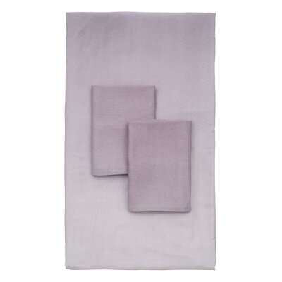 Lauralee 4 Piece 250 Thread Count 100% Viscose Rayon from Bamboo Sheet Set Size: California King, Color: Lavender